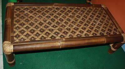 meja laptop bambu