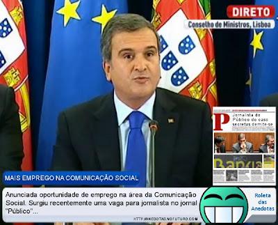 Ministro Relvas anuncia emprego na Comunicação Social