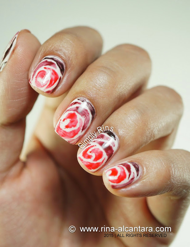 Love Never Fades Valentine's Nail Art