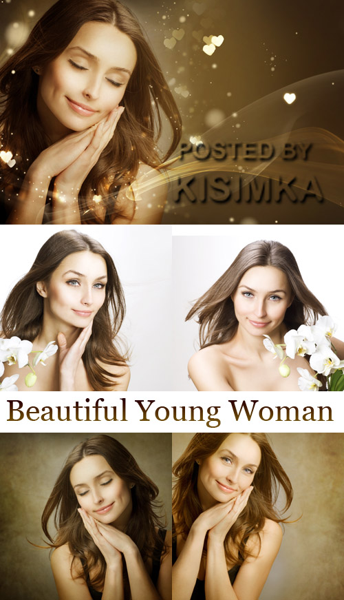 Stock Photo: Beautiful Young Woman with long Hair
