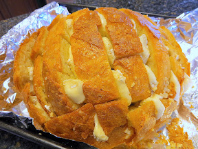 Roasted Garlic and Brie Stuffed Bread