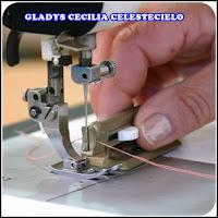Enhebrando máquina de coser con enhebrador automático