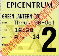Green Lantern 3D Ticket