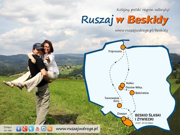 Ruszaj w Drogę - Ruszaj w Beskidy - kolejny przewodnik po Polsce