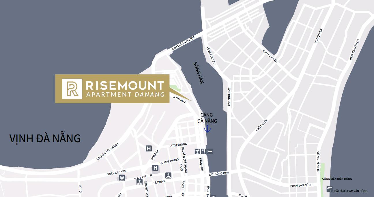 Vị trí đắc địa của Risemount Apartment