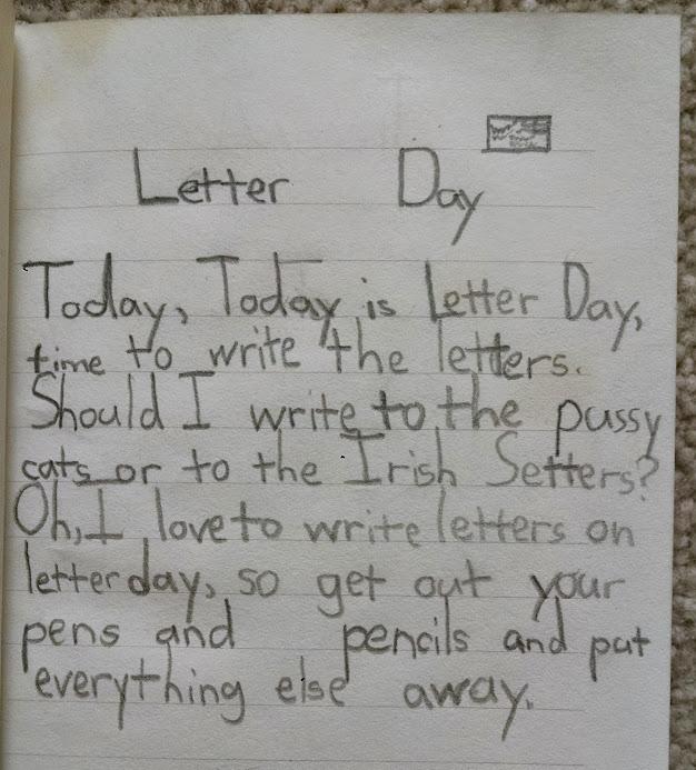 Letter Day poem