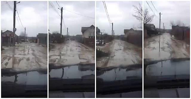 VIDEO Strada Dragomirna, cartierul Ițcani, municipiul Suceava