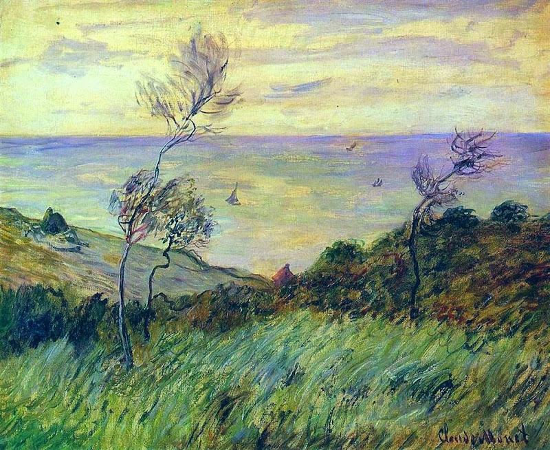 Claude Monet - Cliffs of Varengeville, Gust of Wind