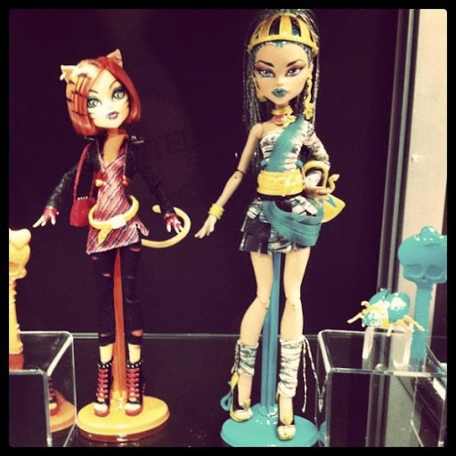 Monster High: prototipos de Torelei Stripes y Nefera de Nile