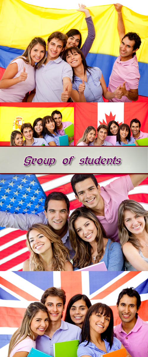 Stock Photo: Group of  students 9