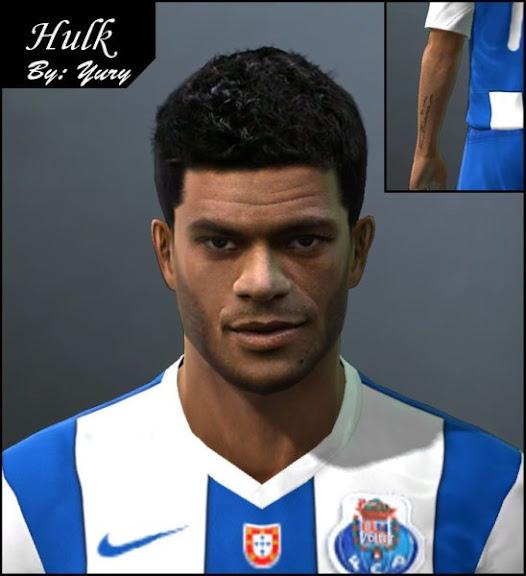 Hulk PES 2011: Face de Hulk   Porto