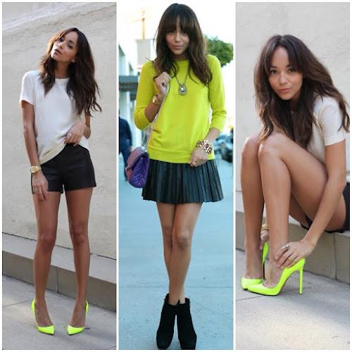 Ashley Madekwe Revenge ringmybell.blogspot.com Neon heels
