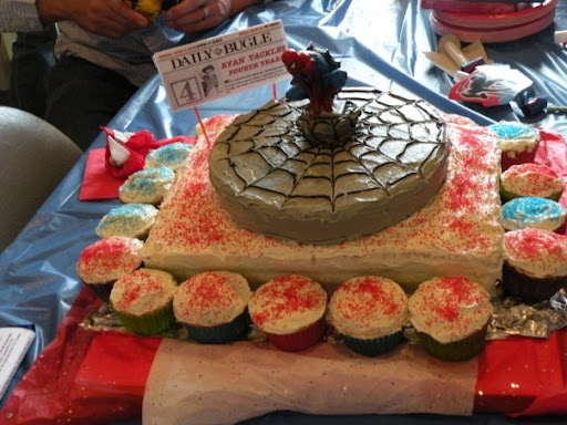 DIY Spiderman Birthday Party Ideas With Daily Bugle Newsstand