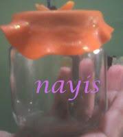 frasco de vidrio decorado masa flexible countri