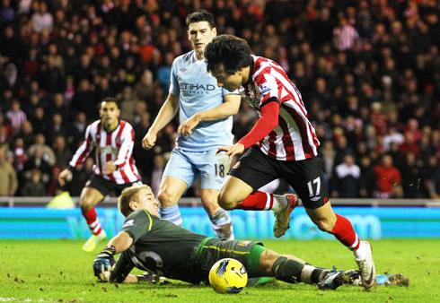 Dong-won Ji, Sunderland - Manchester City