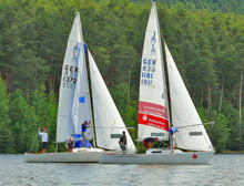 J/22 sailing on Brombachsee Lake, Netherlands