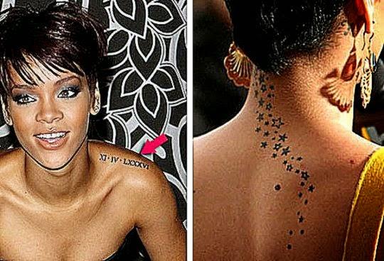 Rihanna   Rihanna Tattoos with Meanings and Photos