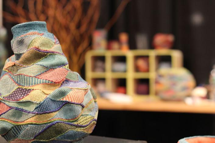 colorful wobbly-shaped basket
