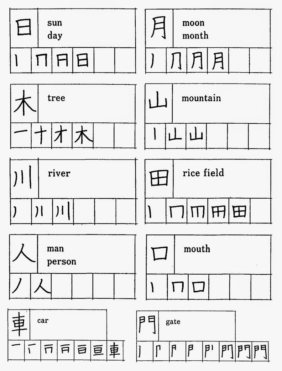 Kanji stroke order