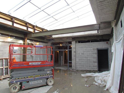 Middle school entrance from atrium area