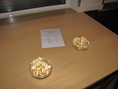 Gelijk in een echte cinema: met popcorn!