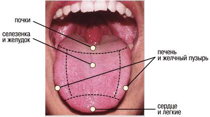 здоровье по цвету языка