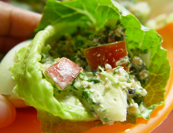 Creamy Tabbouleh Salad Lettuce Wraps