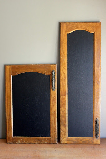 Set of large cabinet door chalkboards available for rent from www.momentarilyyours.com, $4 for large, $2 for small, or $6.00 for set.