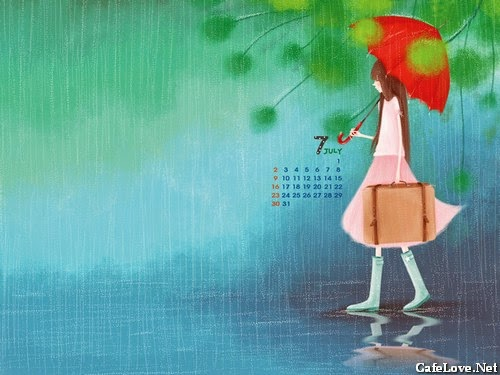 Ảnh hoạt hình cô gái đi đến nơi xa xôi vì tình