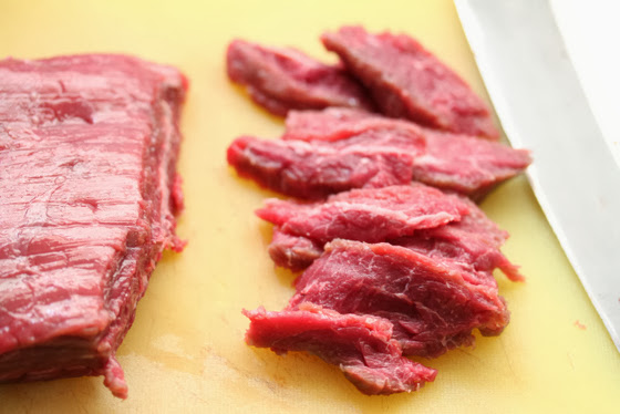 photo of how the beef should be sliced