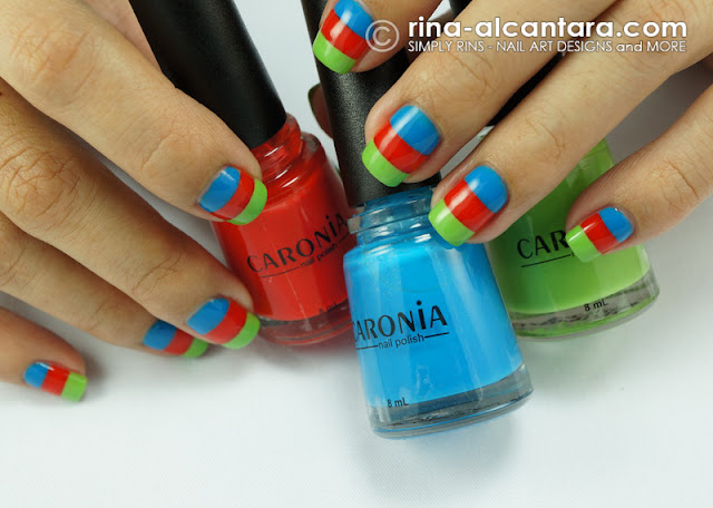 Nail Art Design using Caronia Tropical Doll Collection