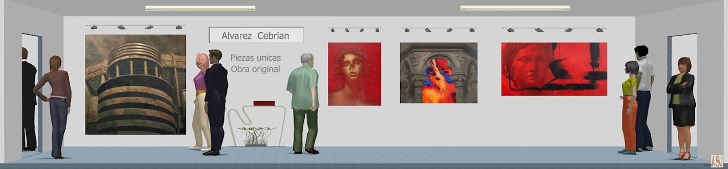 Sala de exposición virtual de pinturas de Álvarez Cebrián