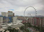 View from our room on the 22nd floor in the Flamingo this trip