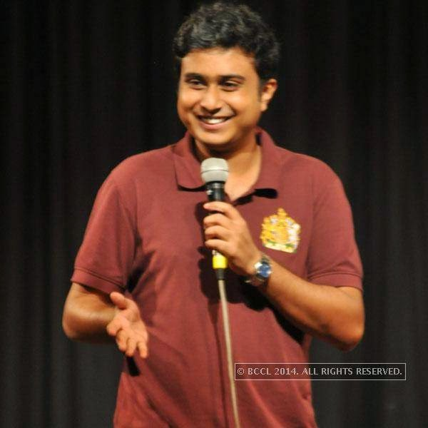 Anirban Dasgupta at Kolkata's Funniest Day, a stand-up comedy event.