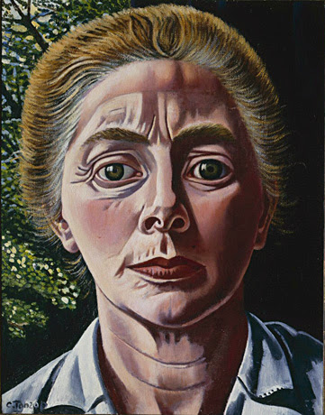 Charley Toorop - Self-portrait with Garden