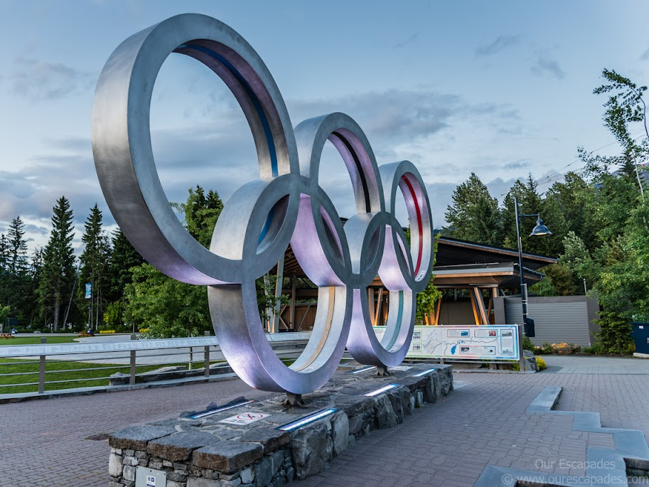 Olympics Rings to commemorate 2010 Whistler Winter Olympics