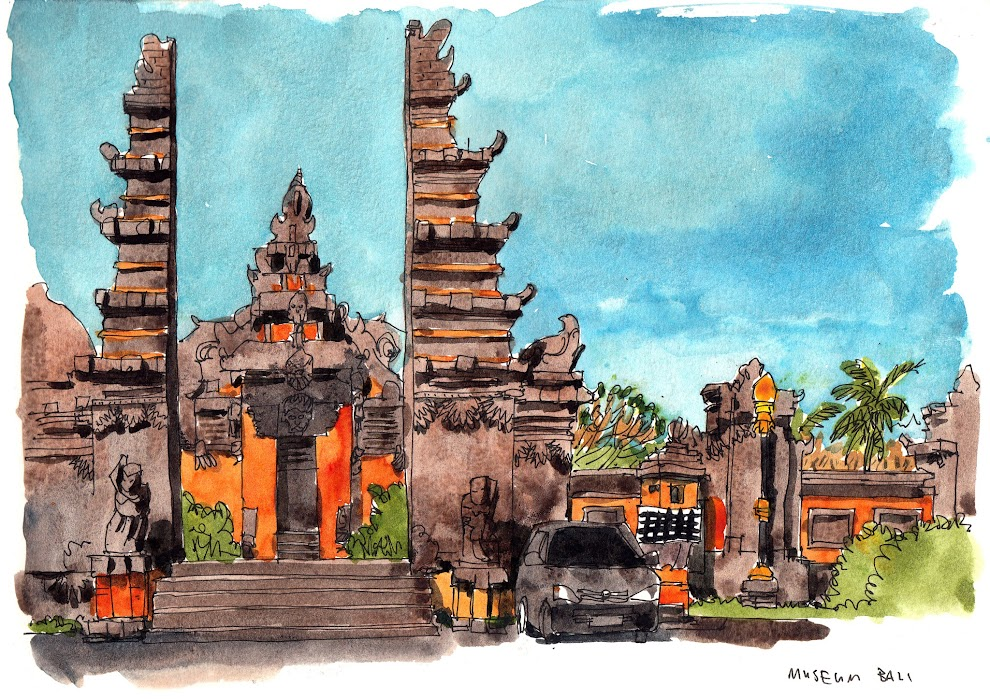 All the sketches from my Bali Sketching Trip 2014 | Parka