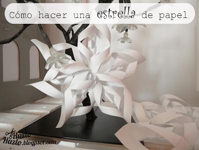 Cómo hacer una estrella de papel.