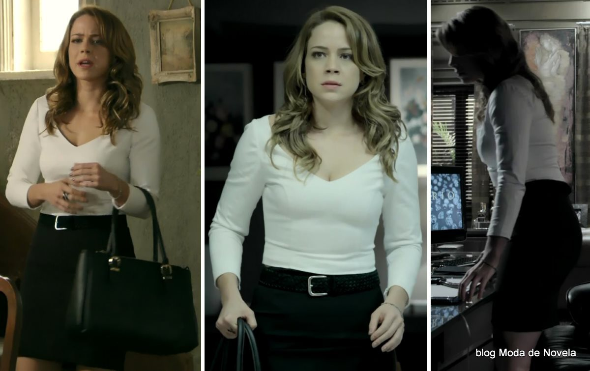 moda da novela Império, look da Cristina dia 18 de dezembro