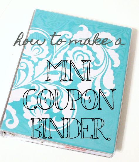 mini coupon binder