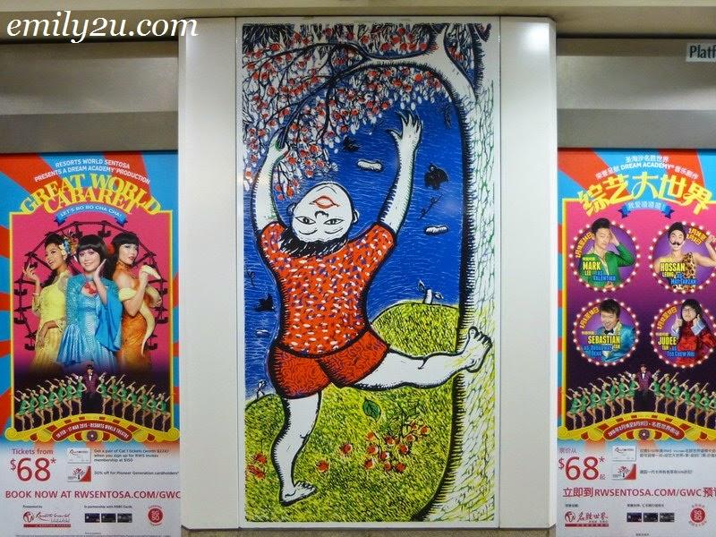 Art in Transit North East Line MRT Singapore