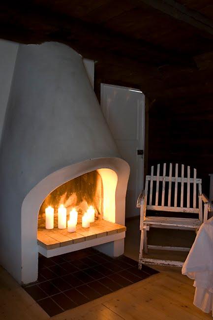 Fauna decorativa chimenea de exterior outdoor fireplace - Chimenea blanca decorativa ...