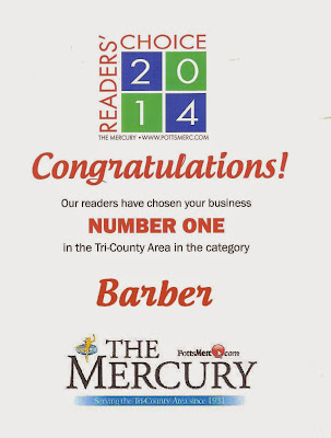 #1 Barber Reader's Choice 2014