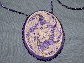Loretta's Alençon needle lace necklace--gorgeous!