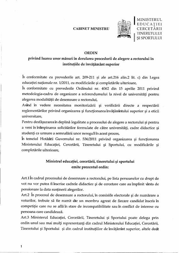 Un ministru zăbăuc a bulversat alegerile pentru noul rector al USV