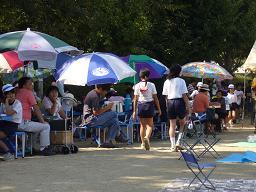 運動会の観客席
