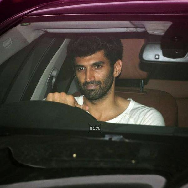 Aashiqui 2 actor Aditya Roy Kapur leaves after attending Karan Johar's party, organised at his residence, on July 26, 2014.(Pic: Viral Bhayani)