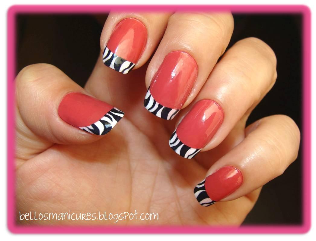 Diseño de uñas estilo french con animal print | BELLEZA EN TUS MANOS