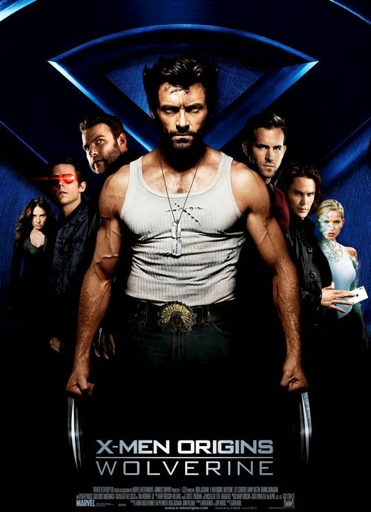 Poster Of X-Men Origins: Wolverine (2009) Full Movie Hindi Dubbed Free Download Watch Online At Alldownloads4u.Com