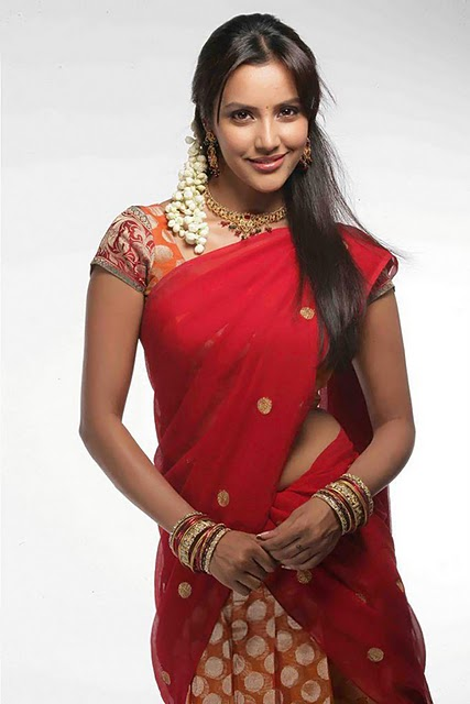in Red Saree Latest Images